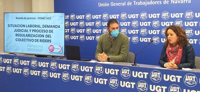 La UGT se personará en un juicio para determinar si 200 'riders' navarros son trabajadores por cuenta ajena